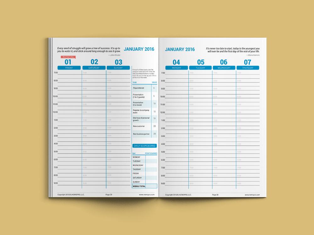 NEMO Pro 2016 Weekly Planner